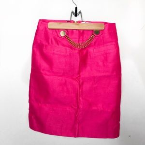 Kate Spade 'Skirt The Rules' Gold Chain pink skirt